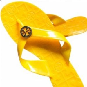 Tory Burch Thora Jelly Yellow Flip Flop Sandals